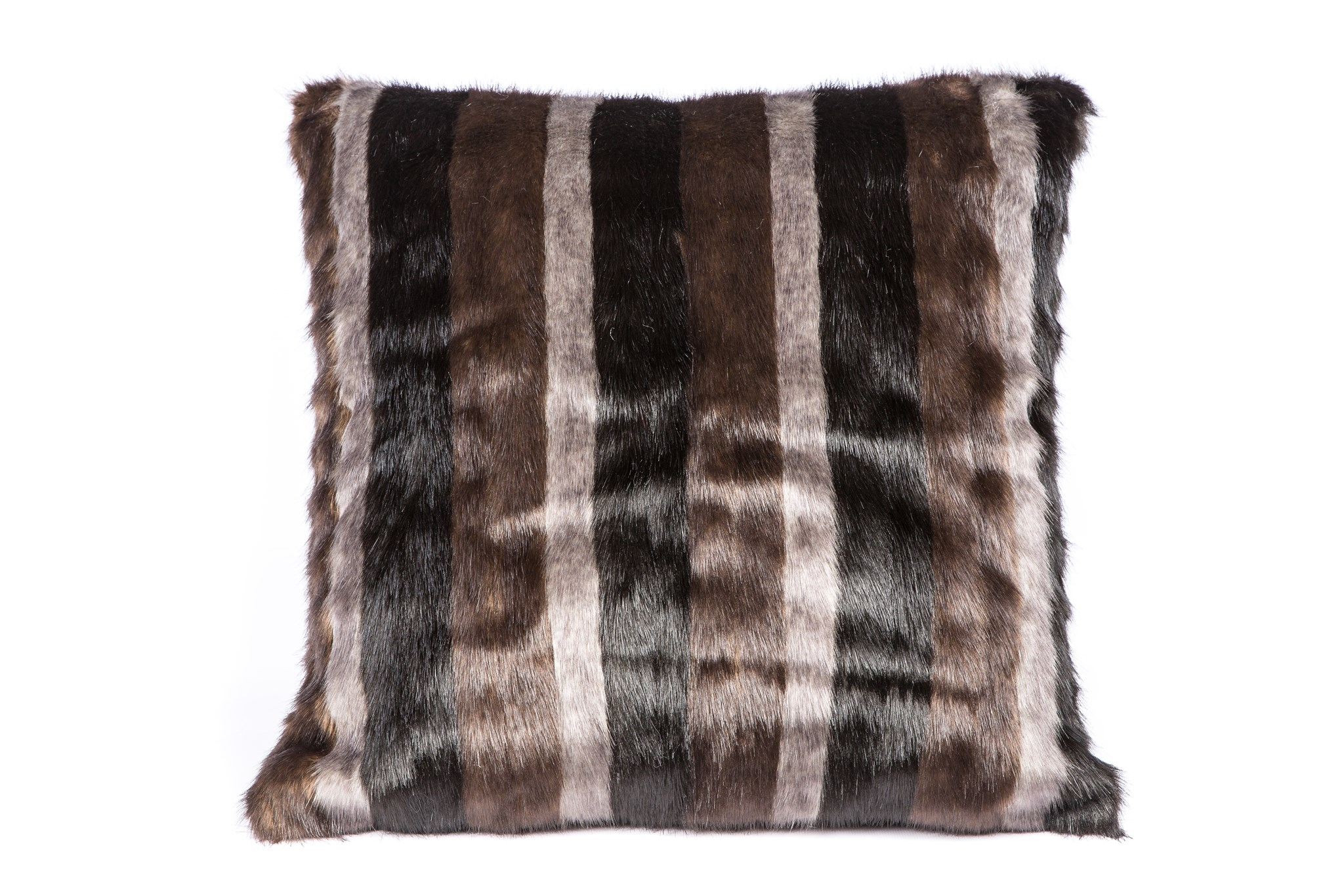 Faux Mink Stripe Pillow: 18