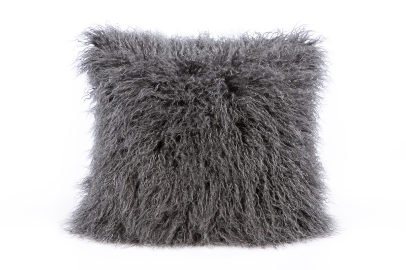 Faux Tibetan Lamb Pillow: 18