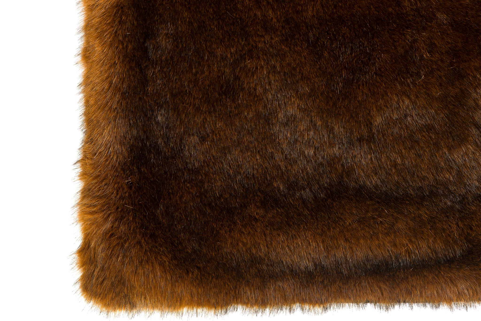 Faux Mink Rug: 5'x7' Brown
