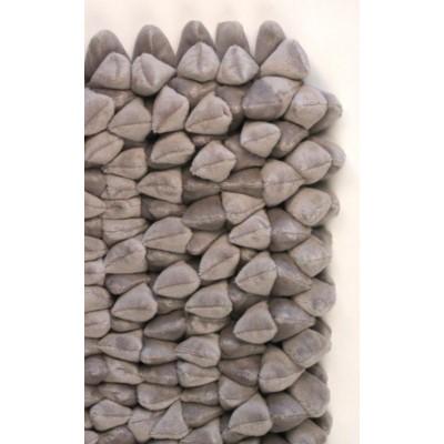 Pebble Chamois Rug 6 X9 Flint Gray Pantone 16 5803