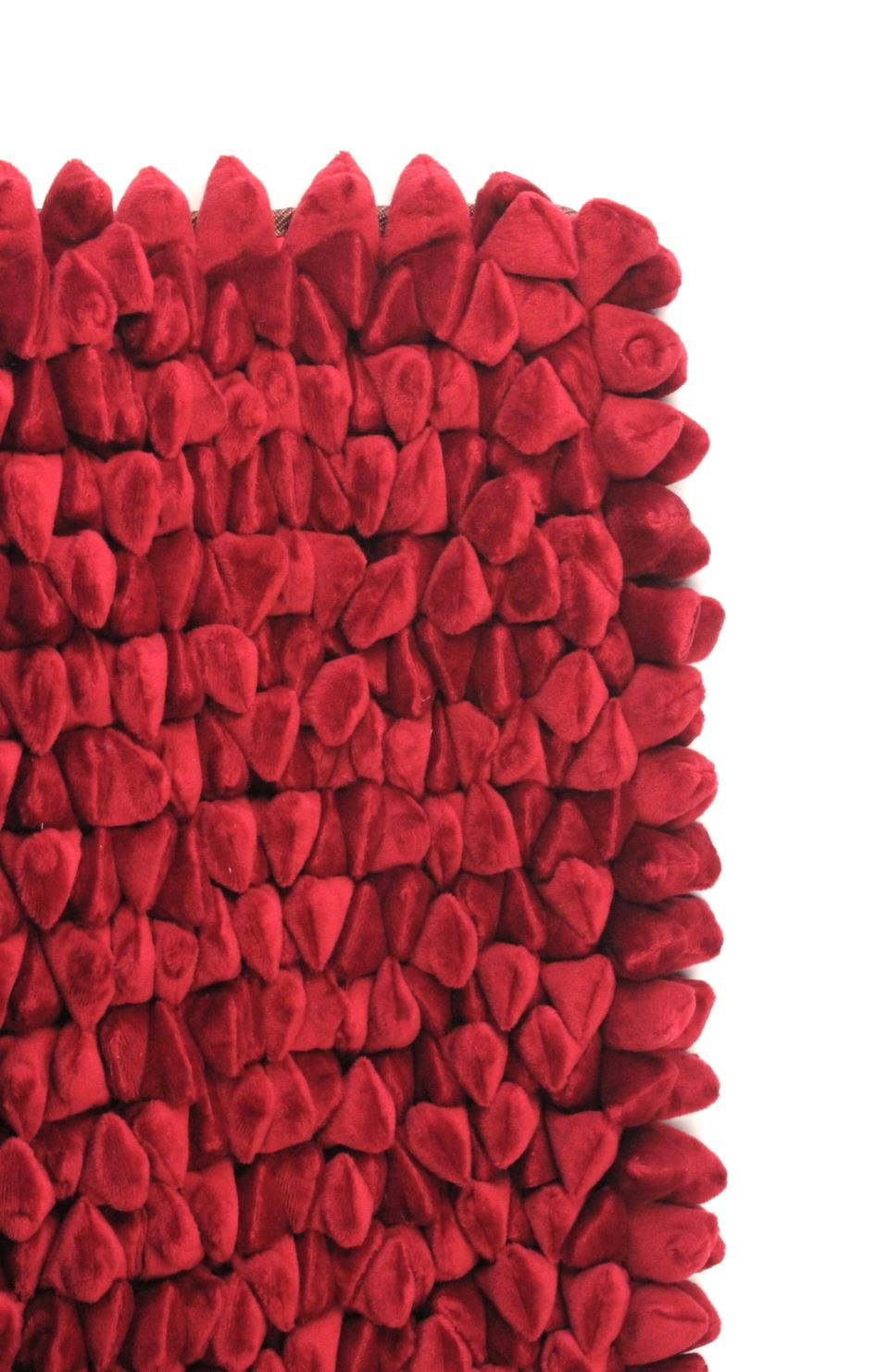 Pebble Chamois Rug: 5'x7' Red