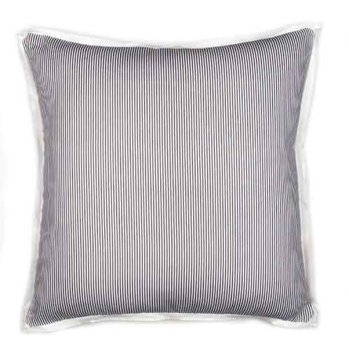 Augusta Pinstripe - Charcoal -  Pillow - 26