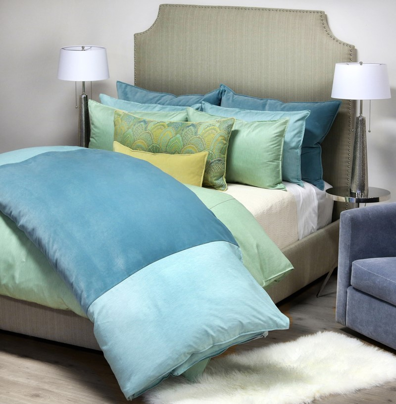 Bedford Franklin - Aqua Mint Bedding