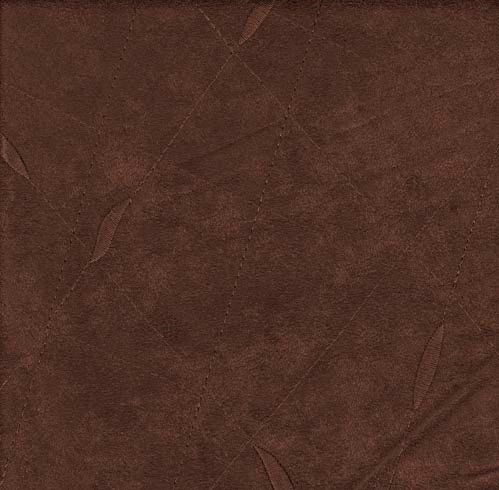 Embroided Microsuede - Brown - Last Call Fabric