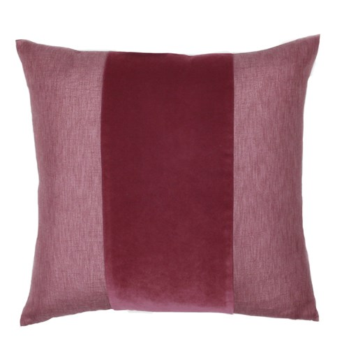 Franklin Velvet - Cordovan -  BAND Deluxe Sham - Queen