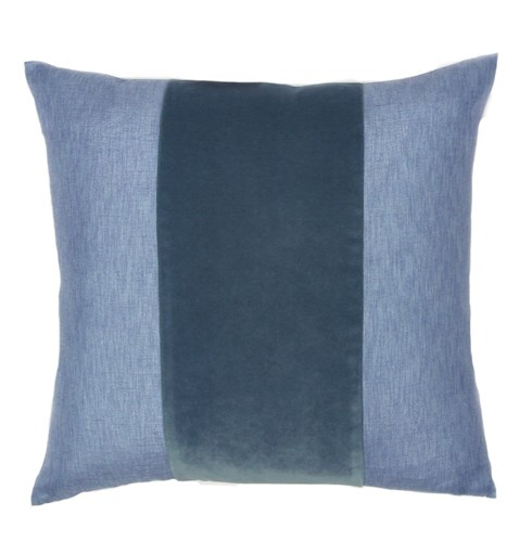 Franklin Velvet - Harbor -  BAND Pillow - 22