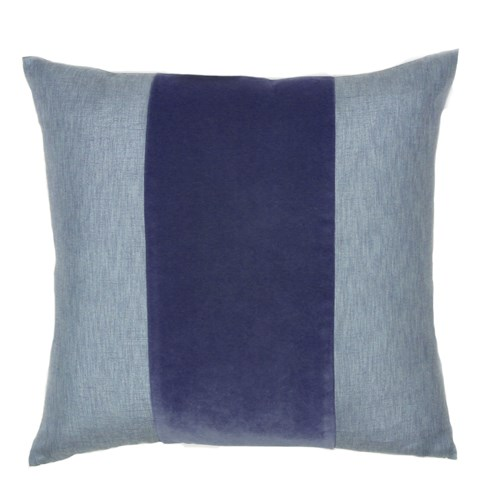 Franklin Velvet - Indigo -  BAND Pillow - 22