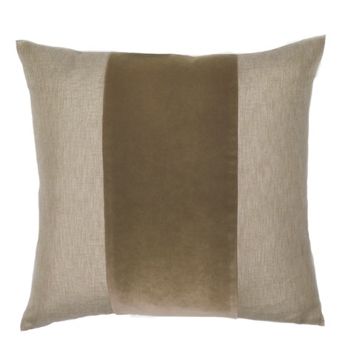 Franklin Velvet - Mushroom -  BAND Pillow - 22