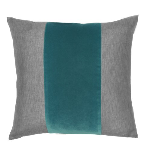 Franklin Velvet - Prussian -  BAND Pillow - 22