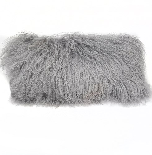 Tibetan Lamb Grey Pillow - 10