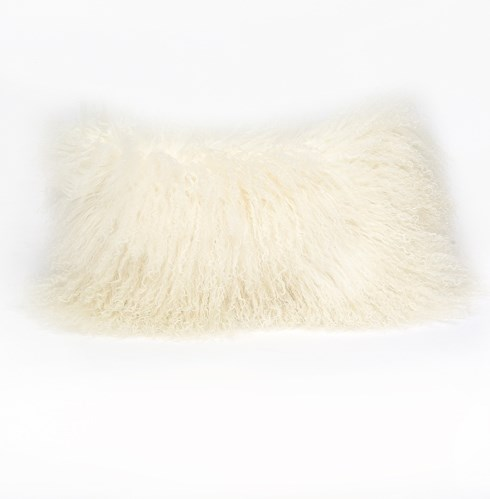 Tibetan Lamb Ivory Pillow - 12