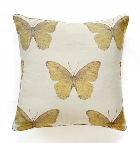 Madame Butterfly - Citrine -  Pillow - 22