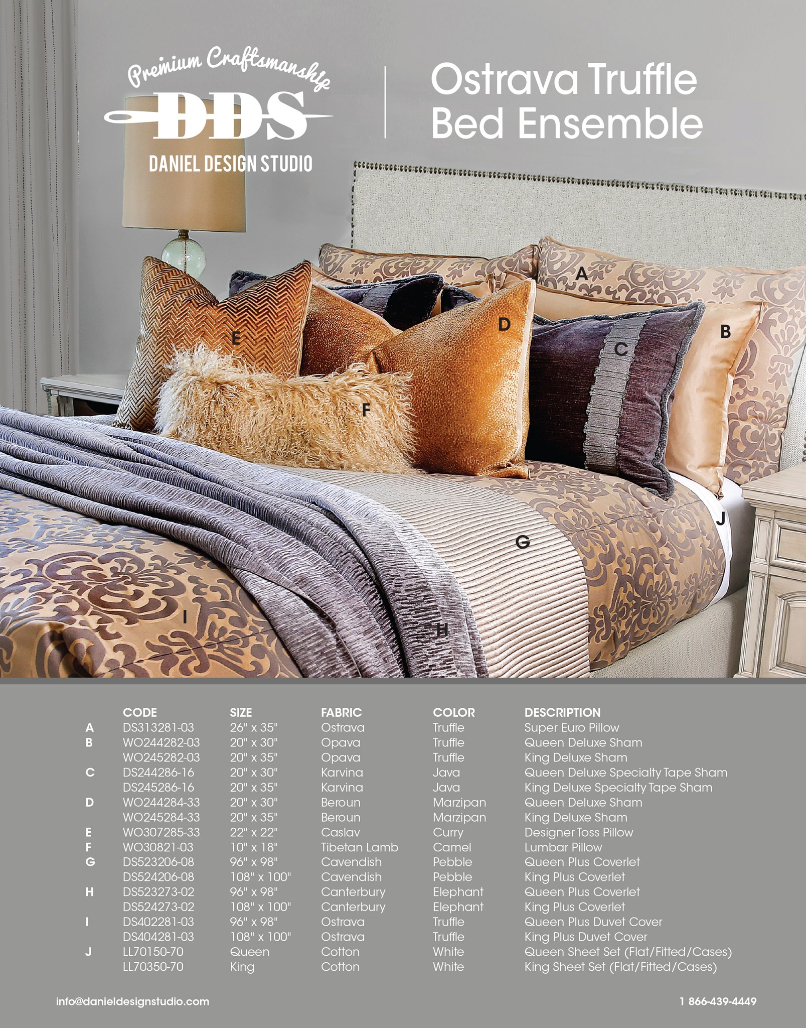 Ostrava Truffle Bed Ensemble Page 1