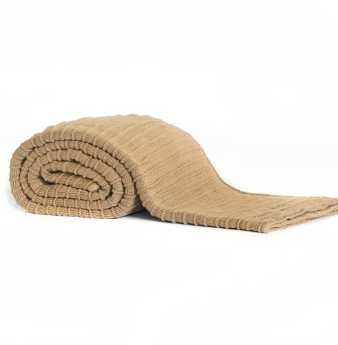 Pleated Knit Camel Blanket - Queen