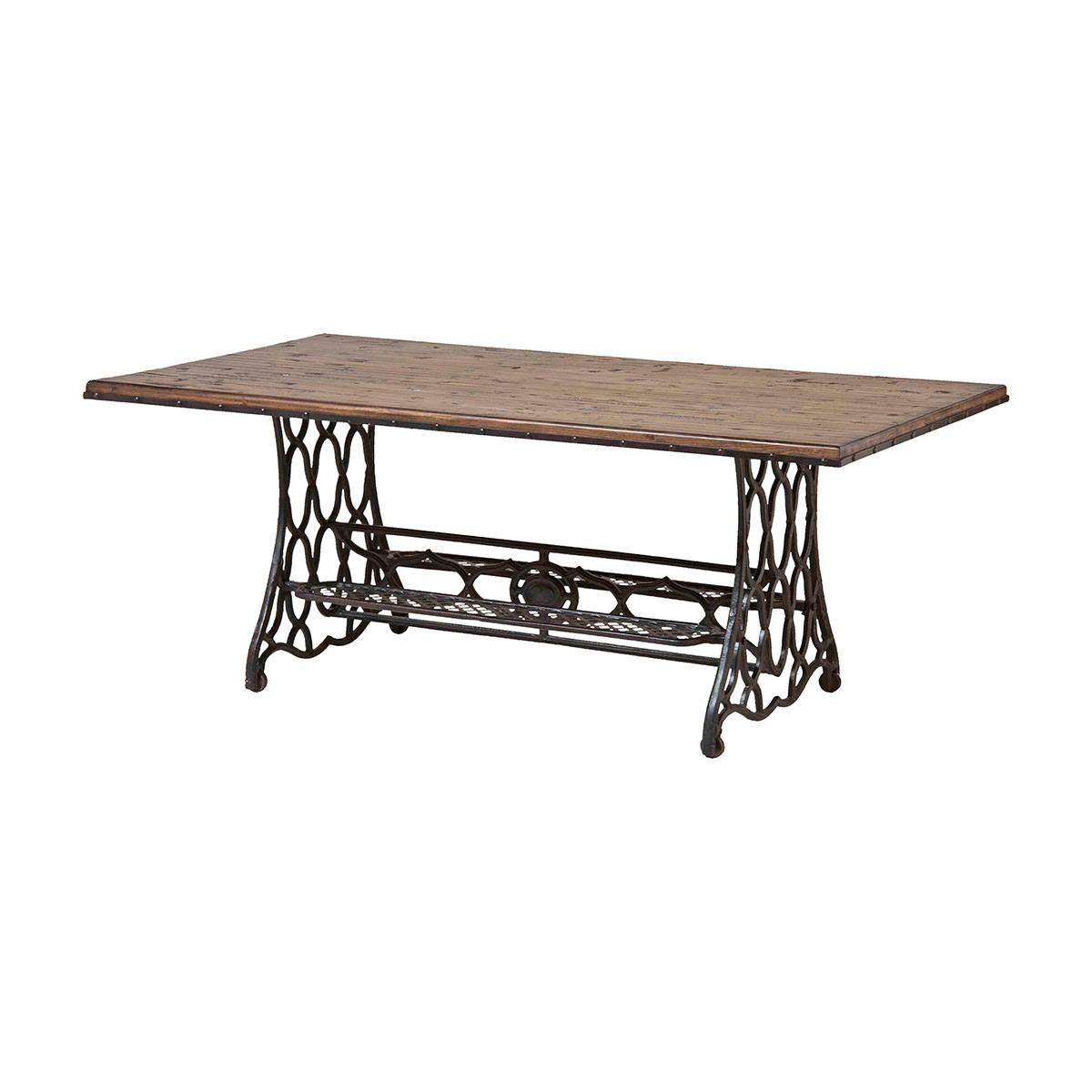 Wood U0026 Metal Cocktail Table