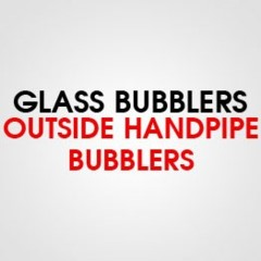 GLASS OUTSIDE HAND PIPE BUBBLER