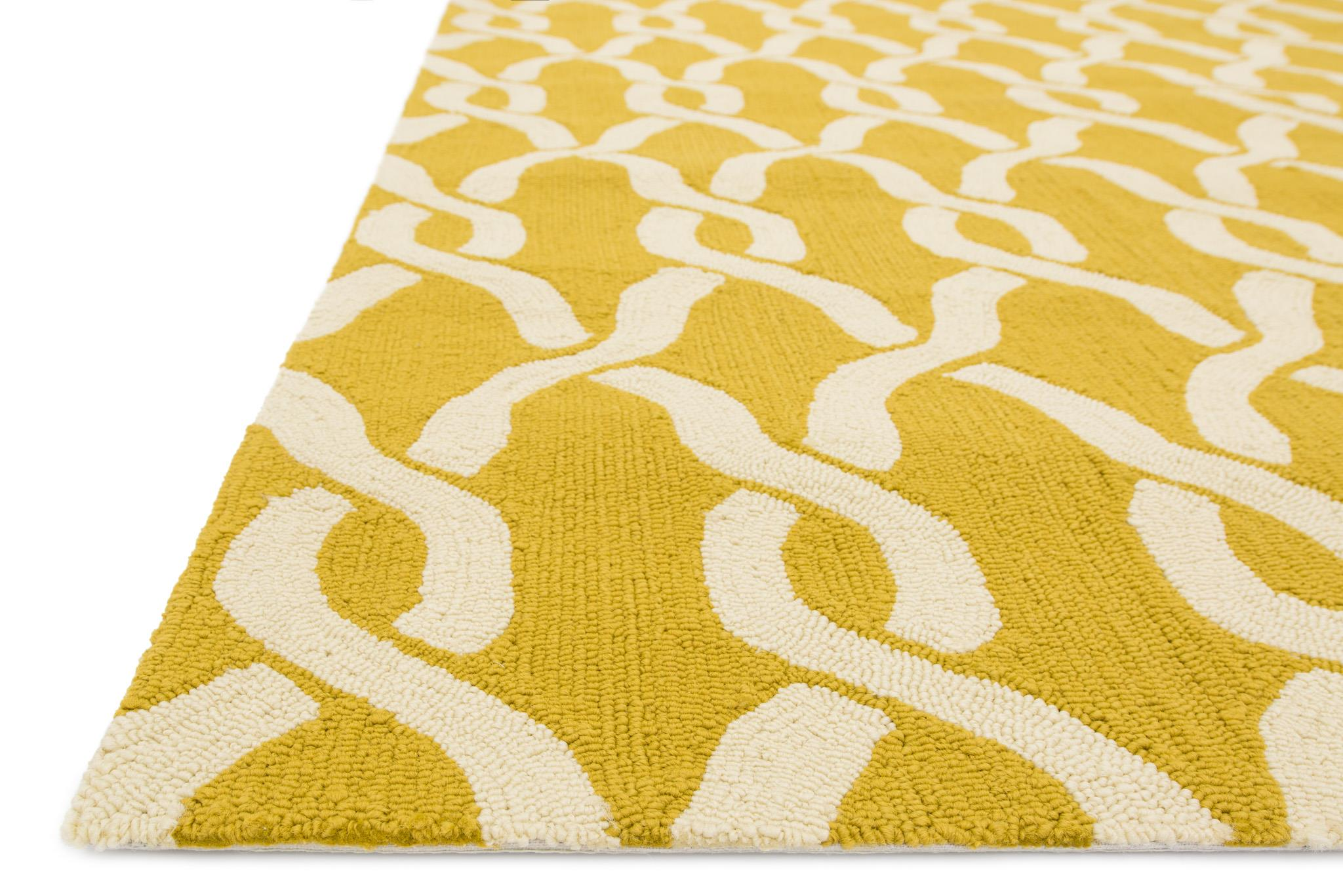 4x6 Loloi Rug Indoor Outdoor Venice beach Goldenrod ivory