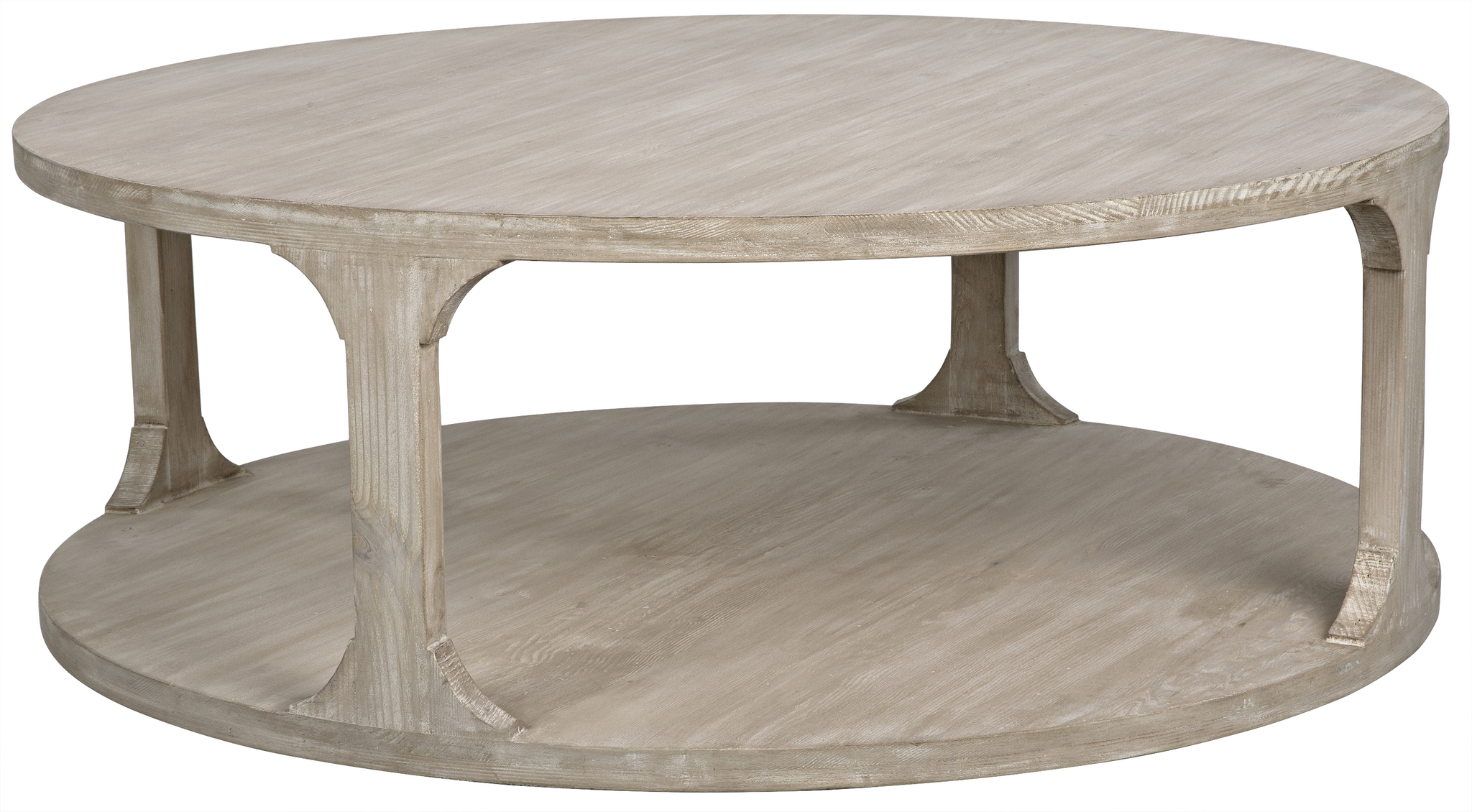 Cfc Round espresso coffee table