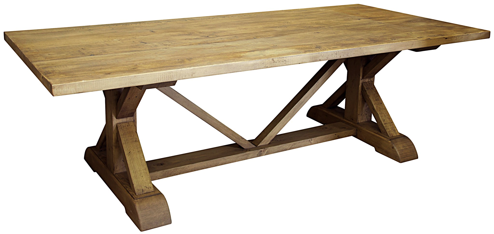 Reclaimed Lumber X Dining Table