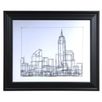 WIRE FRAME CITYSCAPE 1