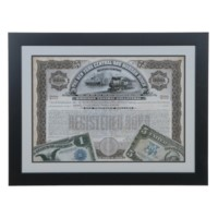ANTIQUE STOCK CERTIFICATE 1