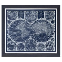 WORLD GLOBES BLUE PRINT