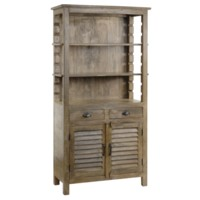 Bengal Manor Mango Wood Grey Bookcase