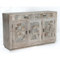 Bengal Manor Reclaimed Mango Wood Tiles Sideboard