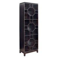 Bengal Manor Mango Wood Hexagon 3 Tier Bookshelf