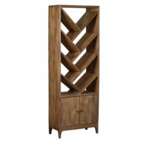 Bengal Manor Mango Wood 2 Door Angled Bookcase