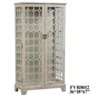 Hawthorne Estate 2 Door Diamond Fretwork Glass Curio