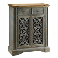 Chatsworth Grey Pierced Door Cabinet