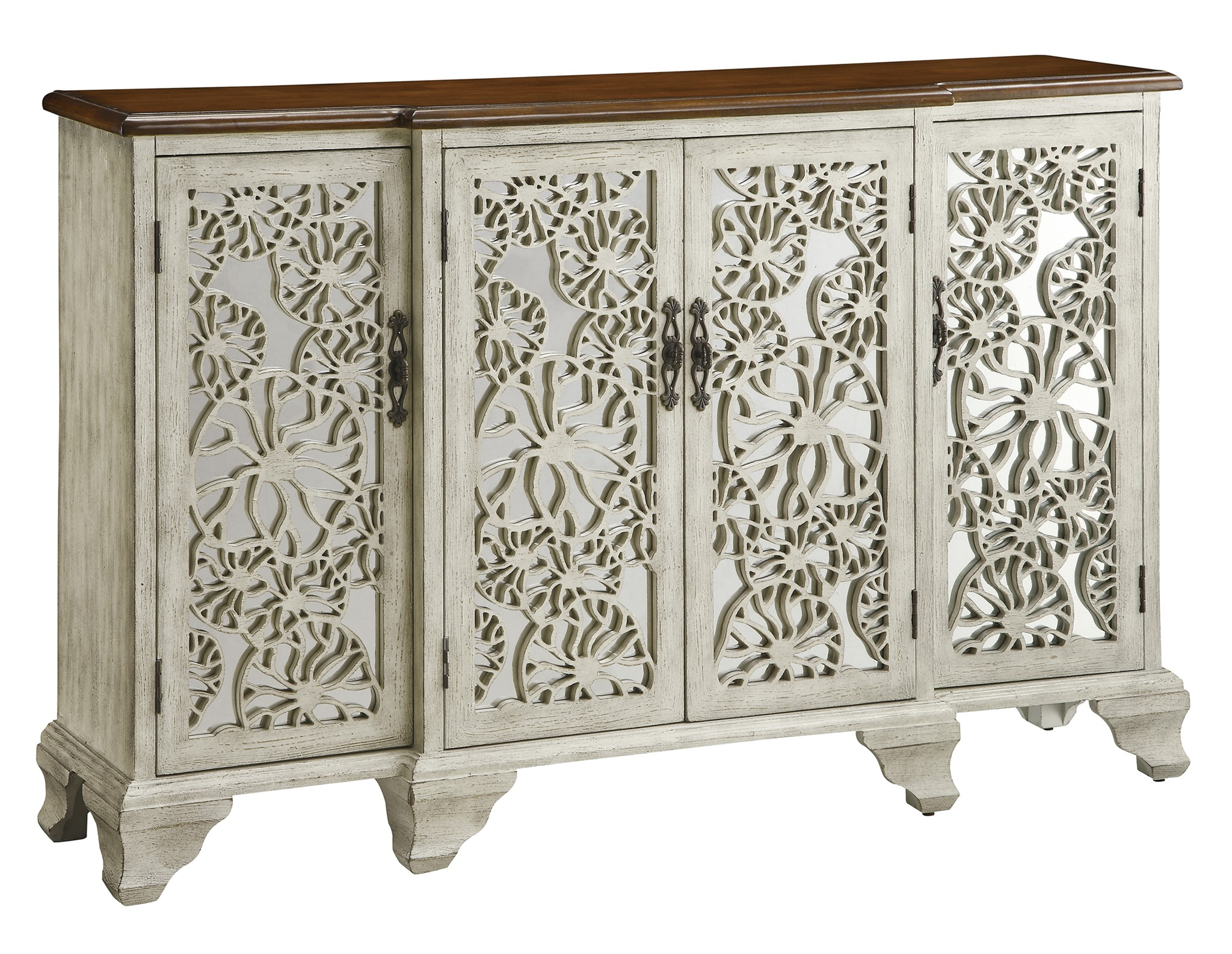 Hawthorne Antique White 4 Door Sideboard