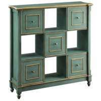 Florence Teal 5 Drawer Open Chest