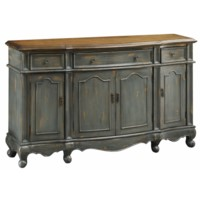 Chatsworth Grey 3 Drawer / 4 Door Credenza