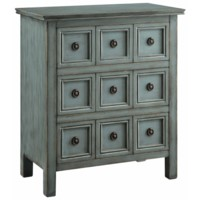 Florence Teal 3 Drawer Chest