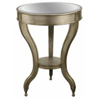 Beverly Gold Leaf Mirrored Accent Table