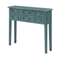 Florence 6 Drawer Teal Console