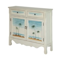 Seaside Coastal Scene Cupboard