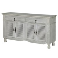 Avalon White Oak 4 Slatted Door Sideboard