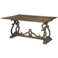 Monticello Shaped Leg Flip Out Sofa Table