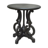 Kensington Shaped Leg Burnished Oak Round Accent Table