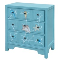 CORAL REEF AQUA 3 DRAWER CHEST