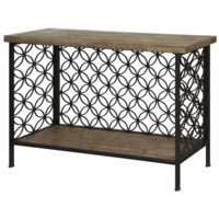 Fairmont Metal and Wood Console