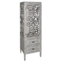 Santa Rosa Distressed Metal and Wood Cabinet