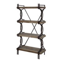 Industrial Metal and Wood Etagere