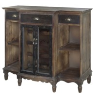 Wendover Two Tone Wood Wine Cabinet