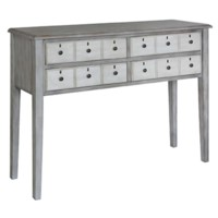 Amelia Grey and White 6 Drawer Tall Console
