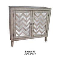 Celeste Chevron Mirror 2 Door Cabinet