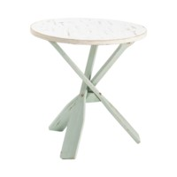 Chesapeake Two Tone Paddles Accent Table